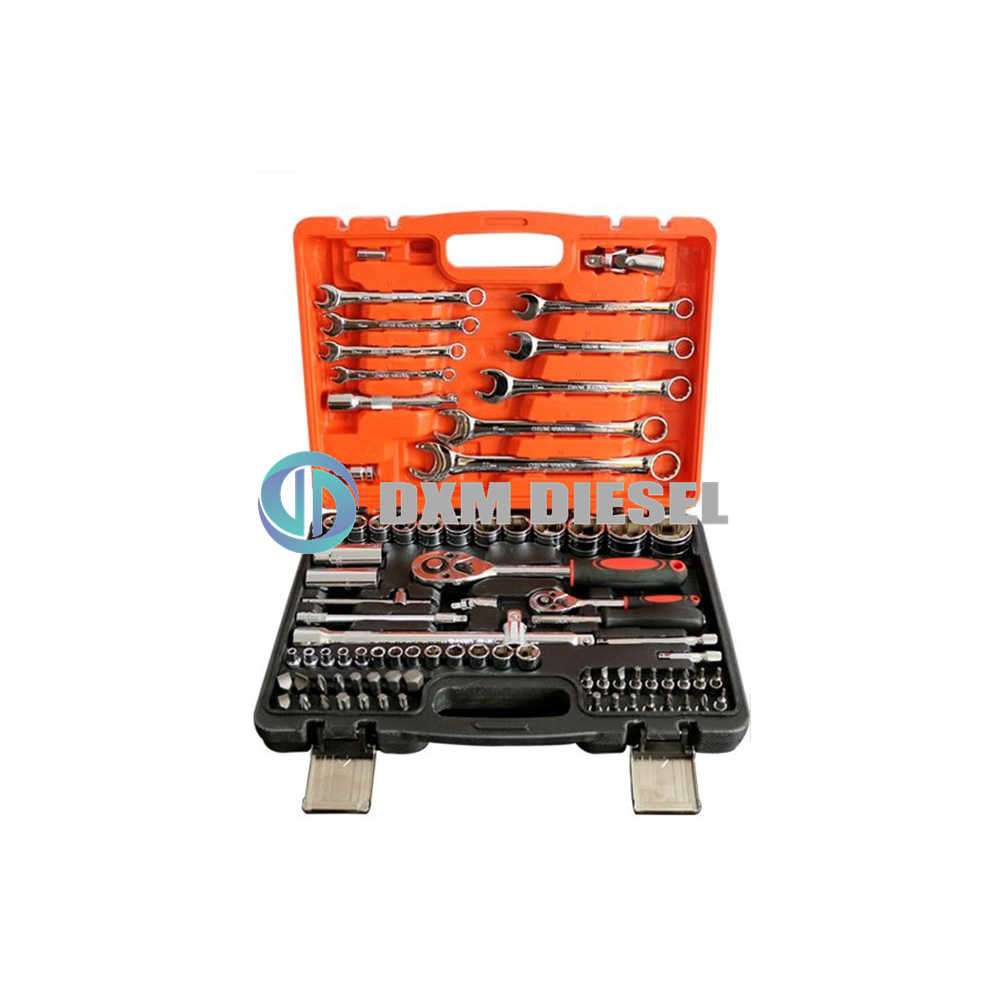 82PCS Kit Car Repair Sockets Set Hand Tool s Combination Socket Wrench  with Plastic Toolbox