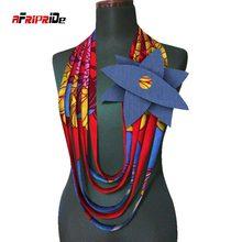 2020 afrique cire colliers impression africaine Multi brins collier africain multi-couches corde collier Ankara bijoux WYA112