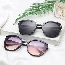 Fashion Stitching Design Gradient Sunglasses For Women Girls Trendy Cat Eyes PC Frame Anti-UV Decora
