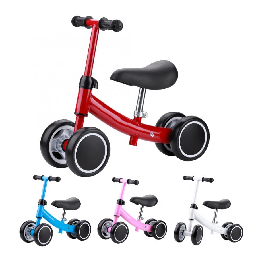 Equilíbrio do bebê da criança bicicleta crianças sem pedal bicicleta equilíbrio mini scooter walker equitação brinquedo para 1-2 anos de idade crianças