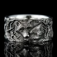 new hot sale nordic mythology giant wolf unisex ring fashion hip hop rock unisex finger ring punk gift