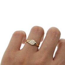 Bagues de fiançailles étoile couleur or, gravées avec pierre cz Simple, bijoux au doigt délicats minimaux pour femmes