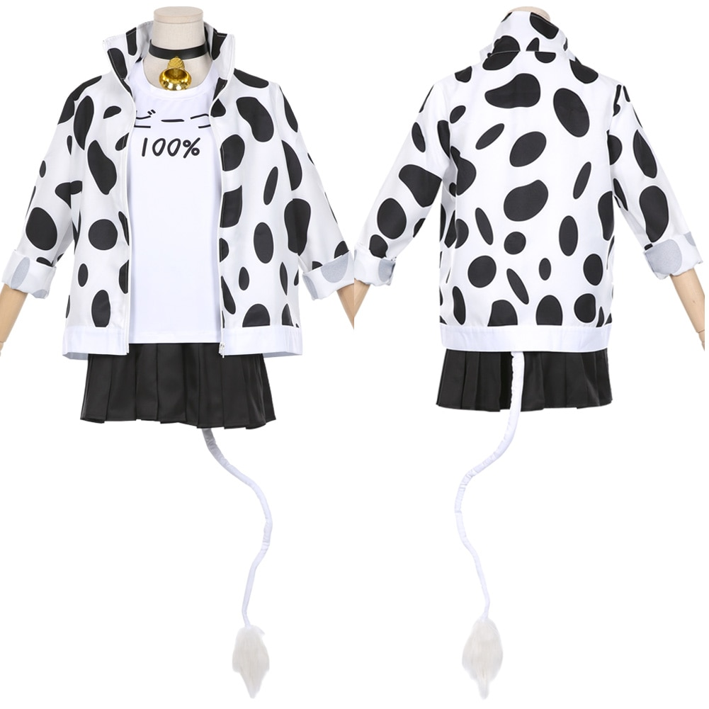 Dropkick on My Devil Minos Cosplay Costume Coat T-shirt Skirt Suit Headwear Tail Prop Full Set Halloween Costume Women
