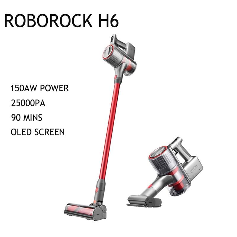 Roborock H6 el kablosuz elektrikli süpürge 420W fırçasız Motor kalmak haberdar kolayca yıkanabilir hafif elektrikli süpürge