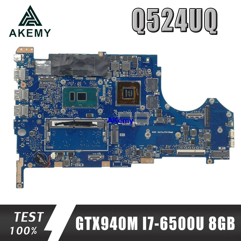 Q524UQ اللوحة لابتوب For Asus UX560U UX560UQK UX560UQ UX560UX Q524U Q524UQ Q524UX اللوحة مع GTX940M/2GB + I7-6500U 8GB
