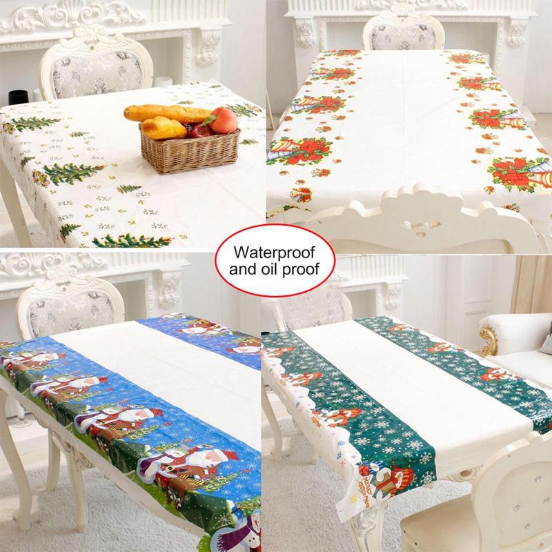 Weihnachten Einweg Tischdecke Hotel Restaurant Househould Schreibtisch Dekoration Wasserdicht Hause Ornament Tisch Abdeckungen 110x180cm