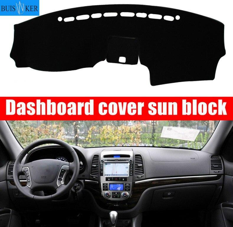 Para Hyundai Santa Fe 2007 2008 2009 2010 2011 2012 cubierta de salpicadero de coche almohadilla de protección solar instrumento accesorios de alfombra