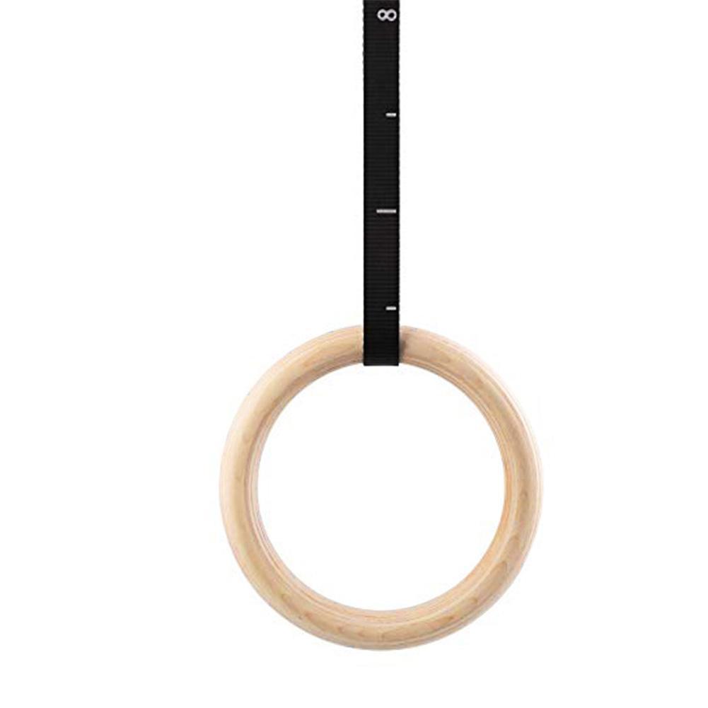 1 pçs 28mm 32mm birch anel de ginástica de madeira anel de treinamento de ginástica esportes competição anéis de vidoeiro