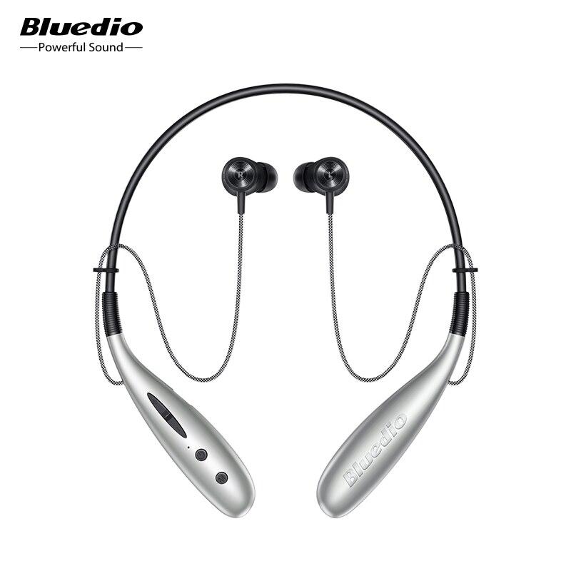 Auricular bluetooth Bluedio Hn + in earphone, auriculares inalámbricos, control magnético, pasos, contador de 13mm, unidad SD, ranura para tarjeta, micrófono, auricular