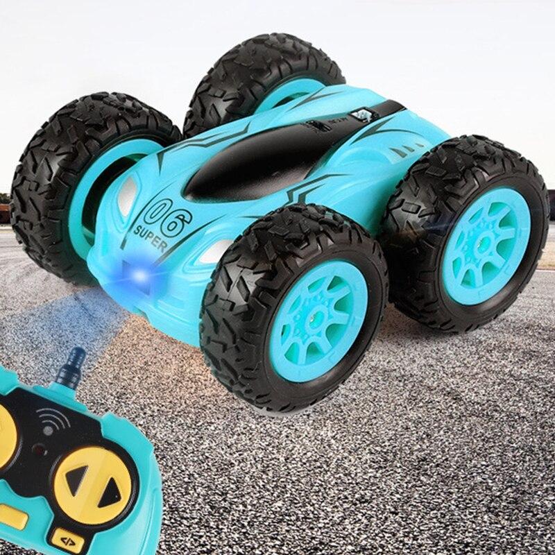 2021 New 3.7 Inch RC Car 2.4G 4CH Double-Sided Bounce Drift Stunt Car Rock Crawler Roll Car 360 Degree Flip Kids Toys For Boys