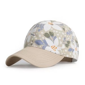 Summer Autumn Fashion Women Baseball Cap Adhesion Hat HipHop Adjustable Cool Flower Sun Hats