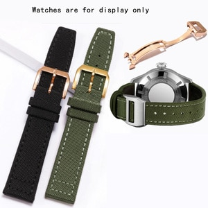 CICIDD Nylon Watchband 20mm 21mm 22mm Black Army Green Wristband For IWC Military Men's Watch Chain With Buckle