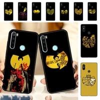 yndfcnb wu tang wu tang clan phone case for redmi note 8 7 9 4 6 pro max t x 5a 3 10 lite pro