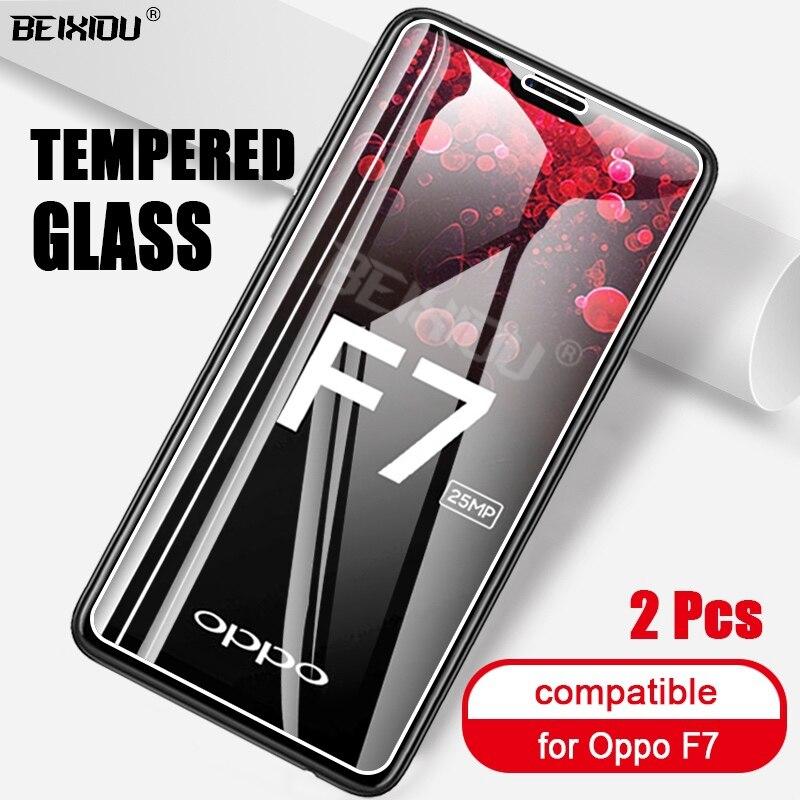 2 pçs vidro temperado completo para oppo f7 protetor de tela 2.5d 9h vidro temperado no para oppo f7 película protetora
