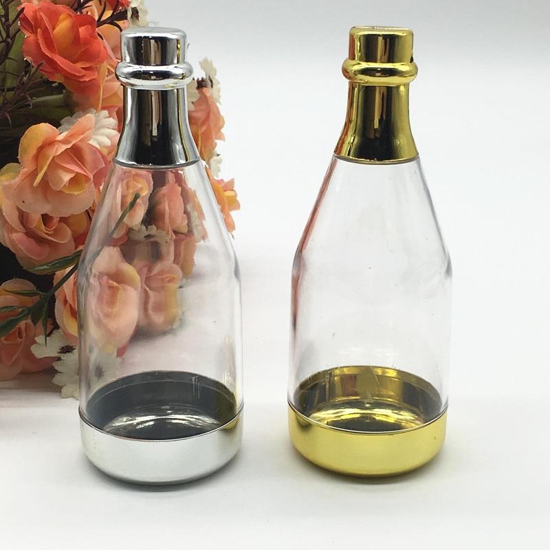 24 قطعة/الوحدة DIY حزب اكسسوارات مضحك هدية مربع استحمام الطفل تذكارية الشمبانيا زجاجة البلاستيك الحلوى مربع مع شخصية ملصقا