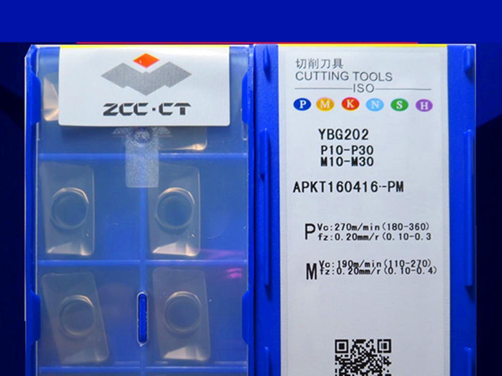 APKT160416-PM YBG202 CNC inserções caribde 10PCS