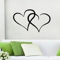 Autocollant mural coeur a la mode  decor de maison  salon chambre a coucher  sparadrap muraux en vinyle  papier peint dart  decoration daffiche