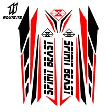 Duch bestia naklejka motocyklowa Moto Feul Tank Pad motocykl naklejki Motocross Pegatinas Protector