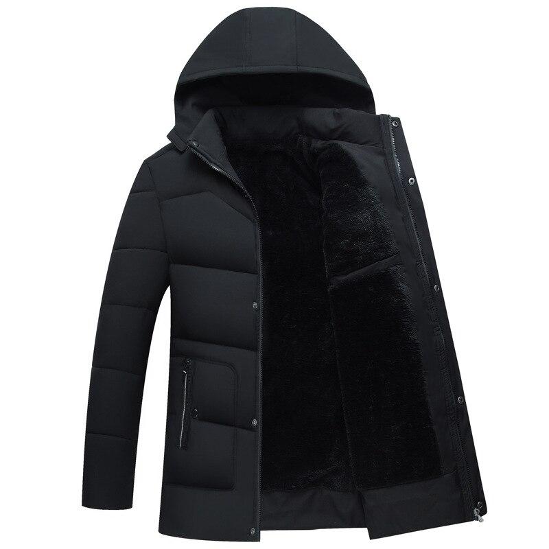 Мужское зимнее пальто, хлопковый костюм, мужское бархатное толстое пальто, мужские парки, мужское зимнее пальто с капюшоном, хлопковый кост...