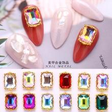 10pcs/lot Glass Nail Art Rhinestone Flat-back Crystal Jewelry Diamonds 30 Design Nail Charm Glitter Rhinestone 3D Nail Jewelry