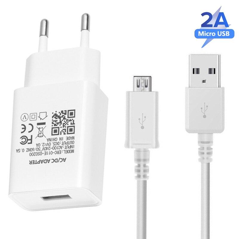 Cargador 5V 2A Cable de datos Micro USB adaptador de corriente USB adaptador de carga del teléfono para Xiaomi A1 A2 Redmi Note 3 4 6 Pro 4X 5 5S 7 7A telé