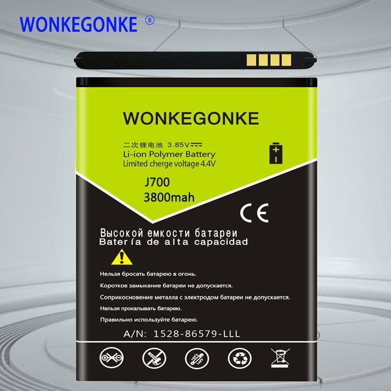 WONKEGONKE EB-BJ700BBC EB-BJ700CBE batería para Samsung GALAXY J7 J7008 J700F SM-J7008 J7000 J700 ON7 G6000