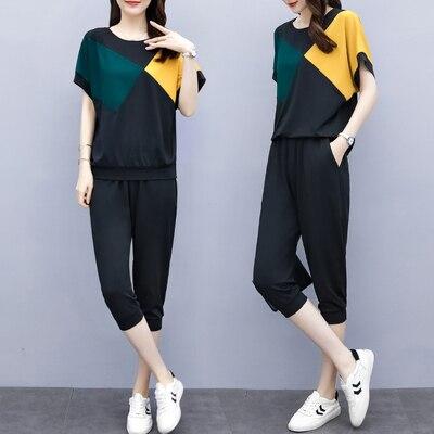 Conjunto informal de 2 piezas para mujer, conjunto de traje de verano para mujer, chándal de 2 piezas para mujer