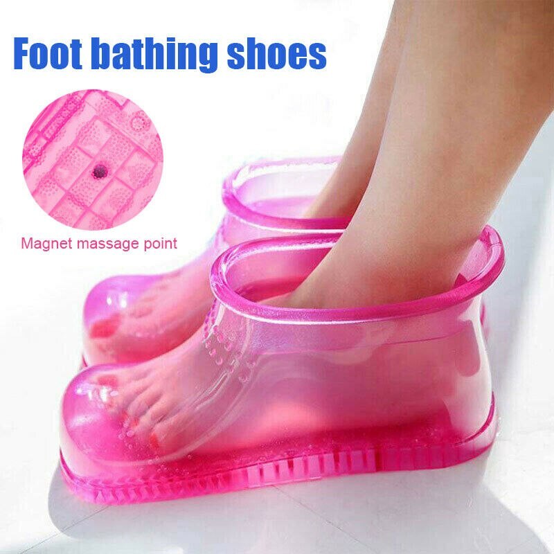 Hot!Women Foot Soaking Bath Massage Therapy Shoes Boots Sole Relaxation Home Foot Care Hot Water S