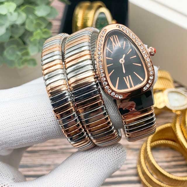 Fashion Women Watches Snake Head Shape Dial Bracelet style stainless steel quartz Watch relogio feminino Montre Femme enlarge
