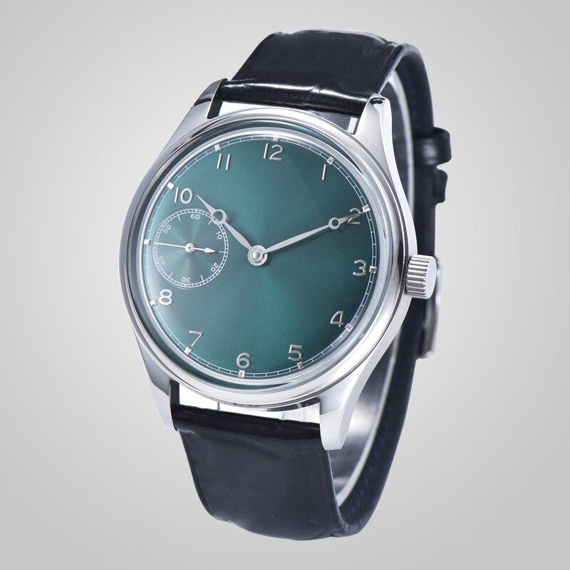 Máquina para hombres con esfera verde 316L caja de acero inoxidable plata 42,5mm pulsera reloj st6497 movimiento