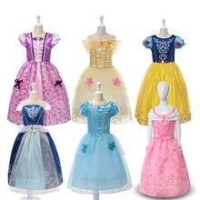 Robe princesse raiponce pour fille   Costume Cosplay, blanche-neige Belle cendrillon, pour fête danniversaire Halloween