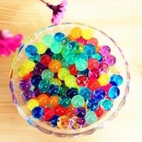 Perles de sol en cristal doux en forme de perles  100 pieces  boules de boue  de gelee magique  ornement de maison  decoration de culture de plante E