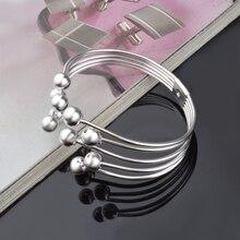 Bracelet Pulseira manchette ouverte cinq fils perle Bracelet bracelets pour femmes mode bijoux accessoires mujer