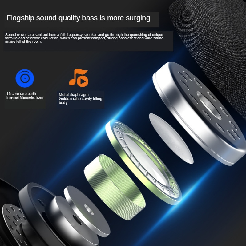 Creative new Bluetooth speaker 5.0TWS interconnected stereo surround sound mini speaker subwoofer outdoor portable enlarge
