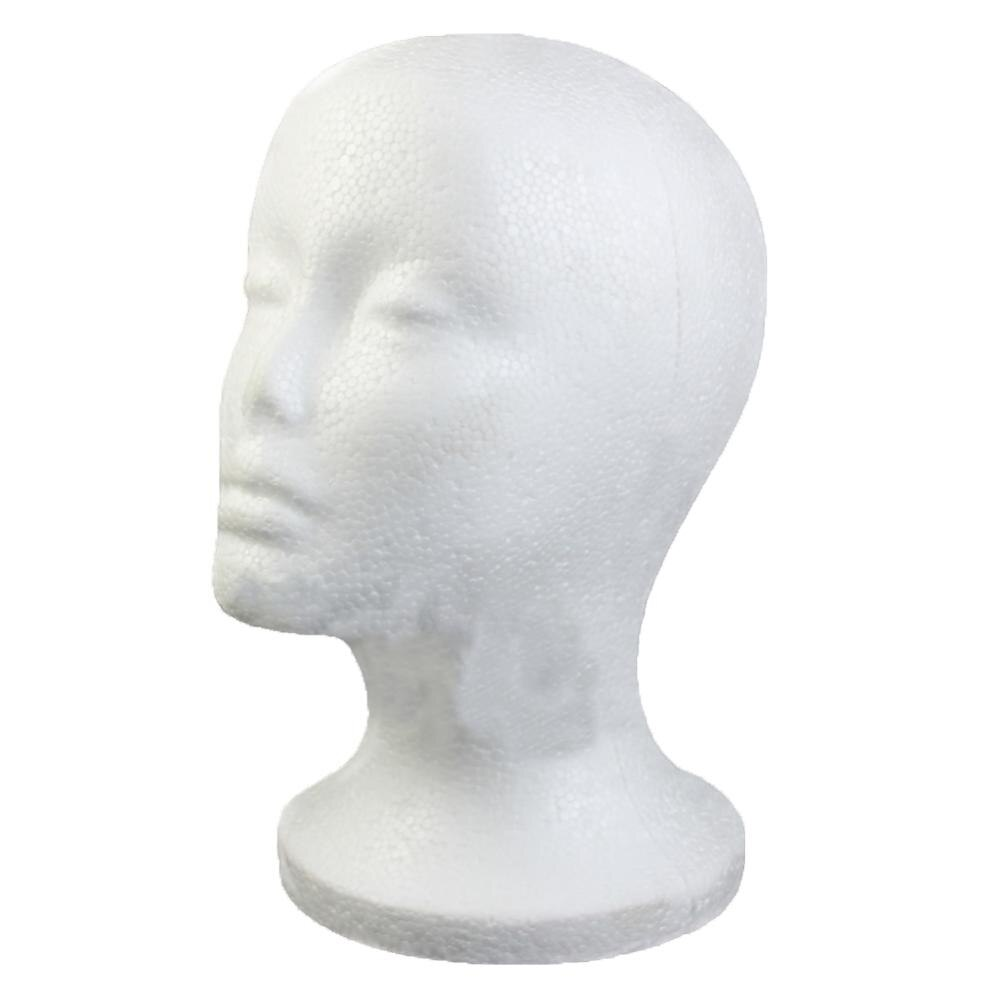 Modelo de cabeza de poliestireno extruido maniquí Exhibidor de gafas con Peluca de espuma para mujer
