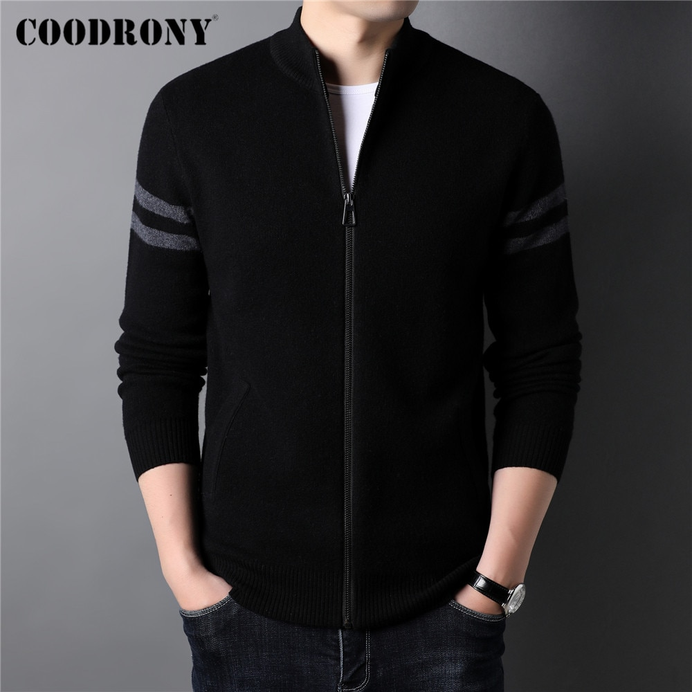 COODRONY Brand Winter New Arrival Thick Warm Sweater Coats Streetwear Fashion Cardigan Men Clothing Cashmere Wool Knitwear C3132