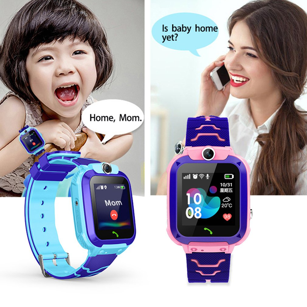 HOT Kids Smart Watch Phone For Girls Boys With Gps Locator Pedometer Fitness Tracker Touch Camera An
