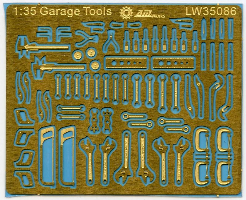 Folha de gravação 135 escala mecânica ferramentas conectionless photoetch (fret tamanho 5x4 cm) lw35086 modelo acessório