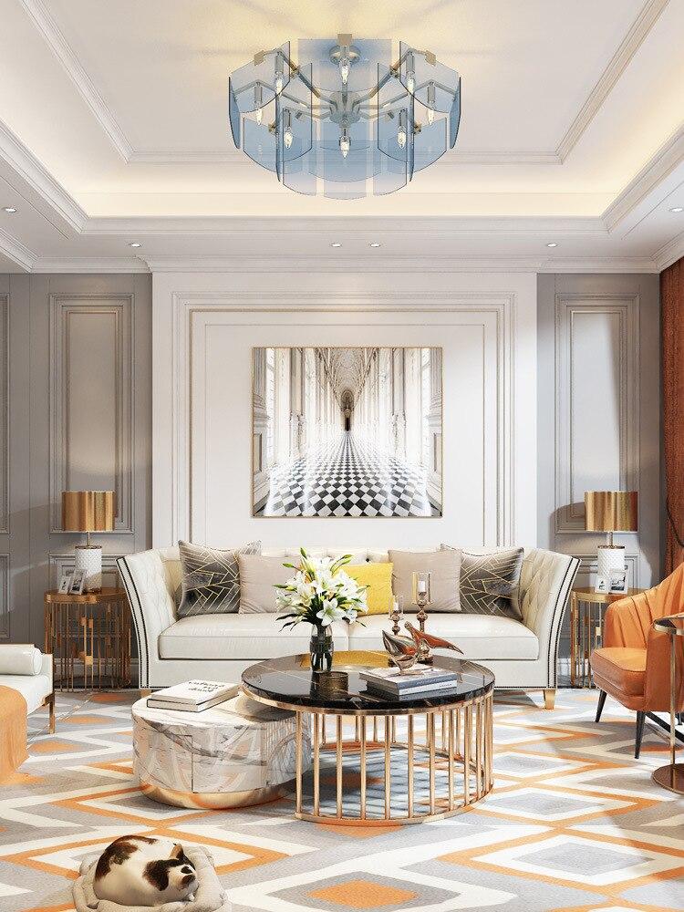 مصباح السقف المعلق led الزجاجي ، تصميم شمالي ، إضاءة داخلية زخرفية ، مثالي للمطبخ ، غرفة الطعام ، البار أو غرفة النوم.