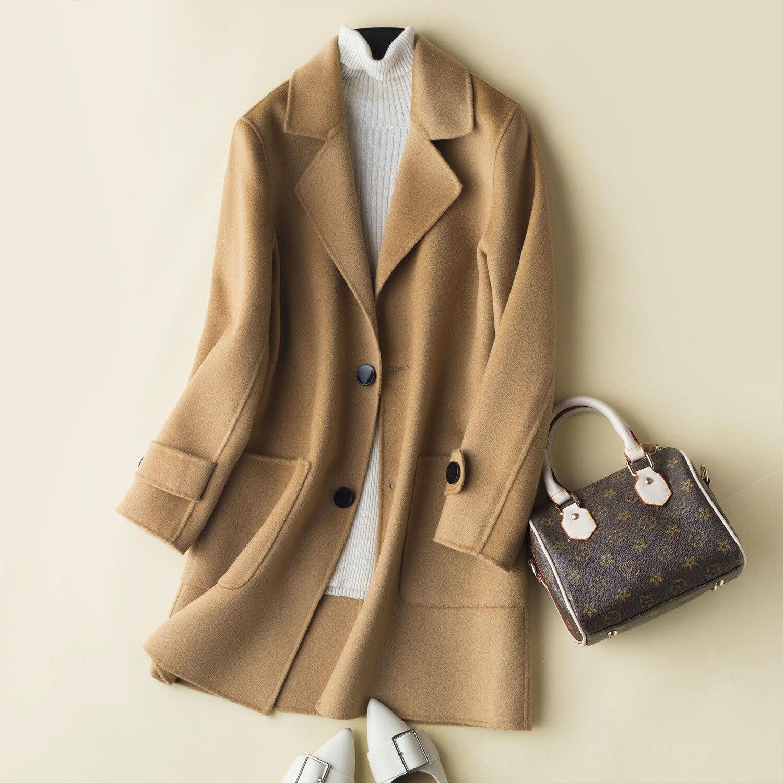 Abrigo de lana 100% Otoño Invierno Chaqueta Hombre hecho a mano de...