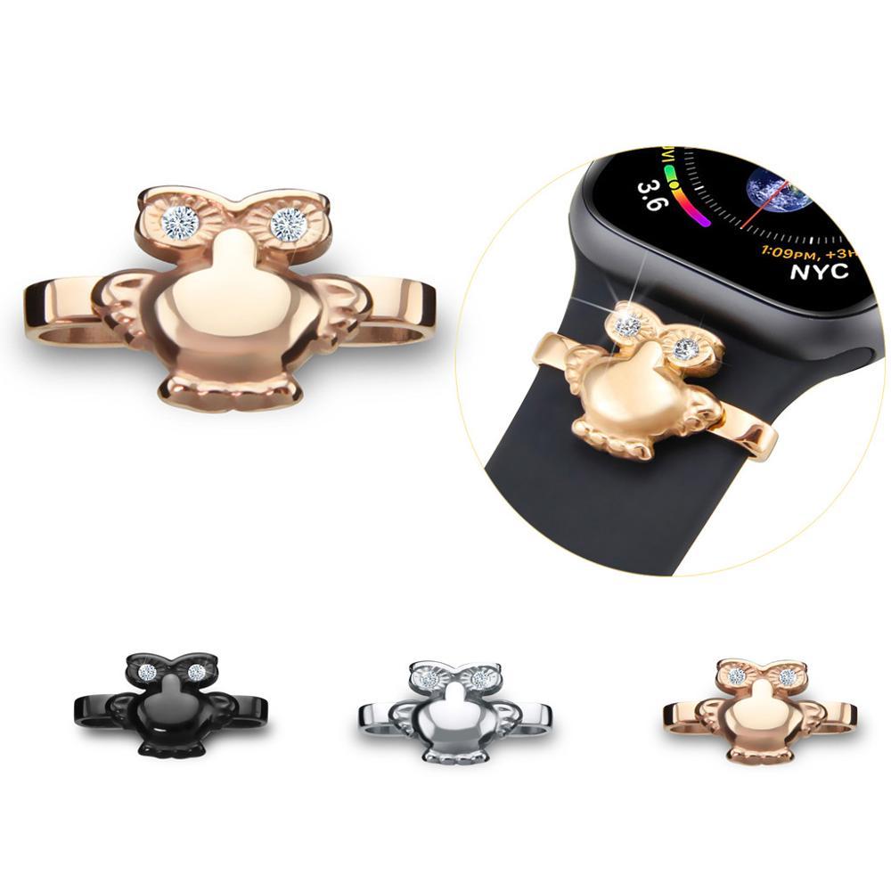 Anillos decorativos de silicona para relojes inteligentes iWatch Series 1, 2, 3, 4, 5, 38/40mm, 42/44mm, adornos decorativos para relojes inteligentes #919