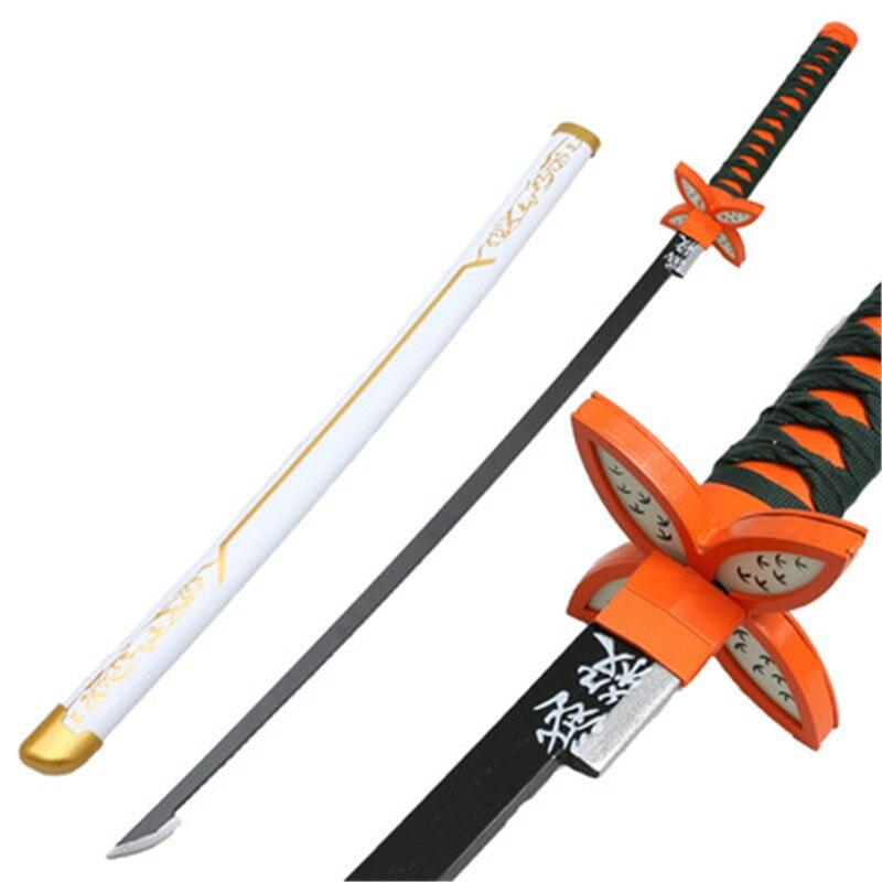Киметсу no Yaiba меч катана убийца демонов белый половина кочоу шинобу сатоман тангиро косплей меч ниндзя дерево 104 см оружие
