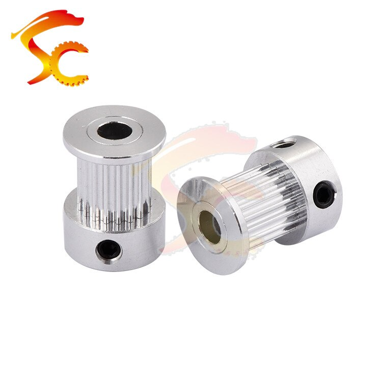 5pcs/lot 3D Printers Parts printer pulley GT2 18 teeth bore 5mm 2GT 18teeth timing pulley fit for GT2 belt width 10mm