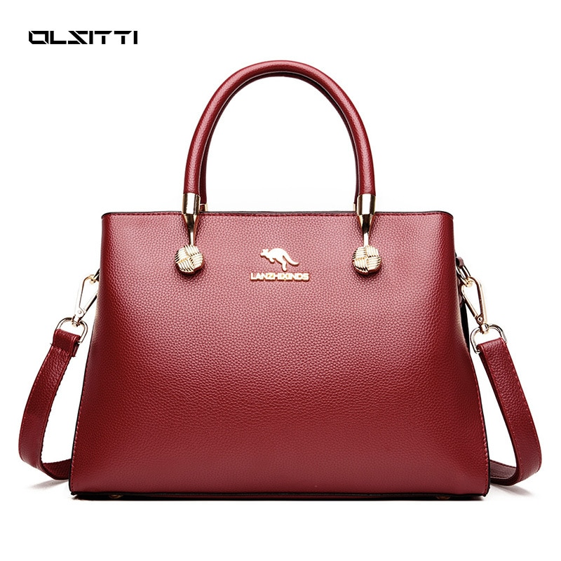 OLSITTI High Quality Leather Casual Tote Shoulder Bag Fashion Crossbody Bags for Women 2021 Designer