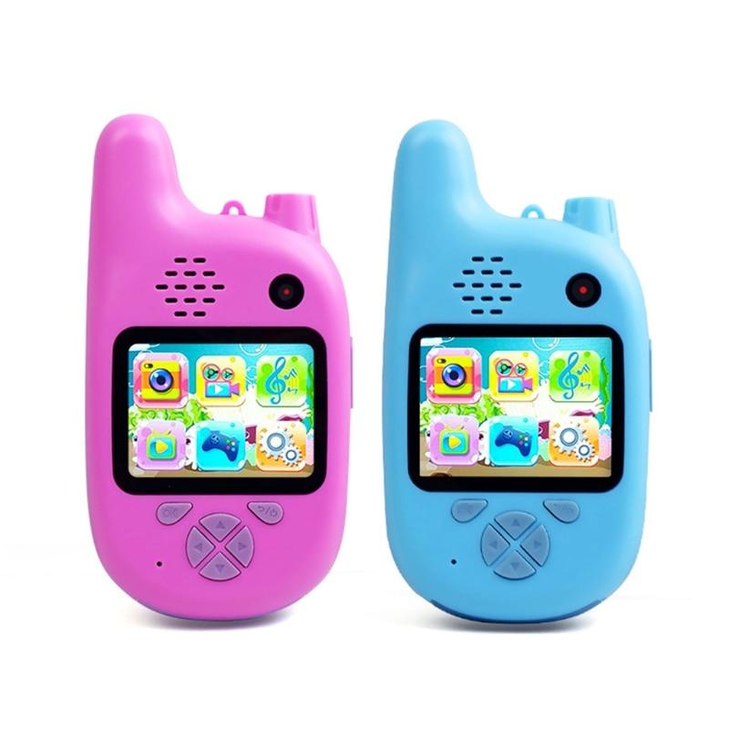 1080P Children Walkie Talkie with VCR,Mp3 Video Recorder Photo 8Million Pixels Smart Digital Camera Kids Puzzle Games