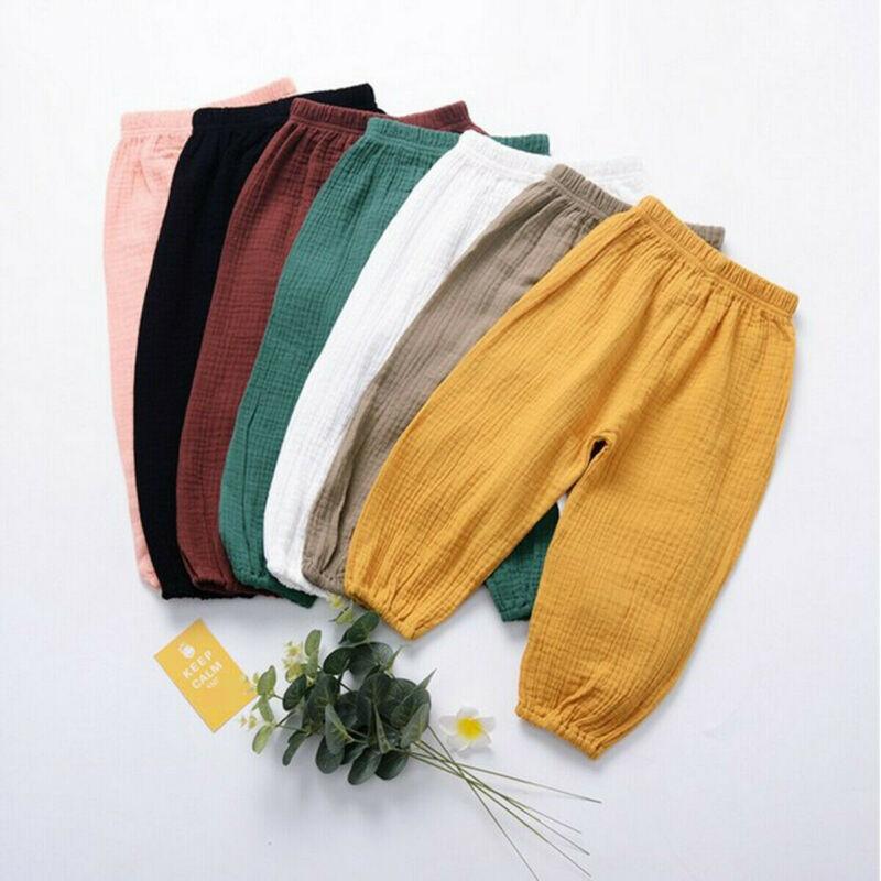 Hot Unisex Girl Boy Kids Harem Pants Casual Sport Loose Dance Bloomers Trousers