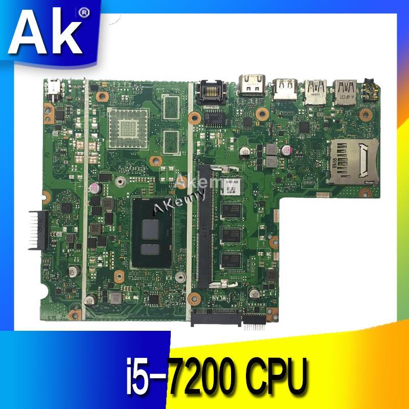 Ak x541uak placa-mãe do portátil i5-7200 cpu 4 gb ram para asus x541uvk x541ua teste mainboard x541uak placa-mãe 100% ok