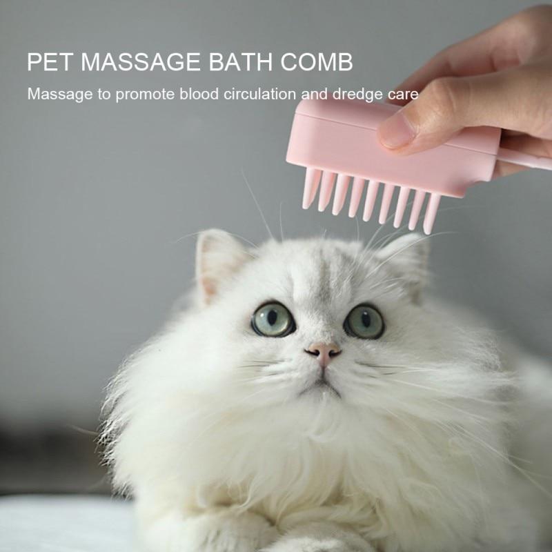 Cat Dog Brush Cleaning Beauty Bath Bath Massage Brush Dog Hair Remove Comb for Pet Dog Cat