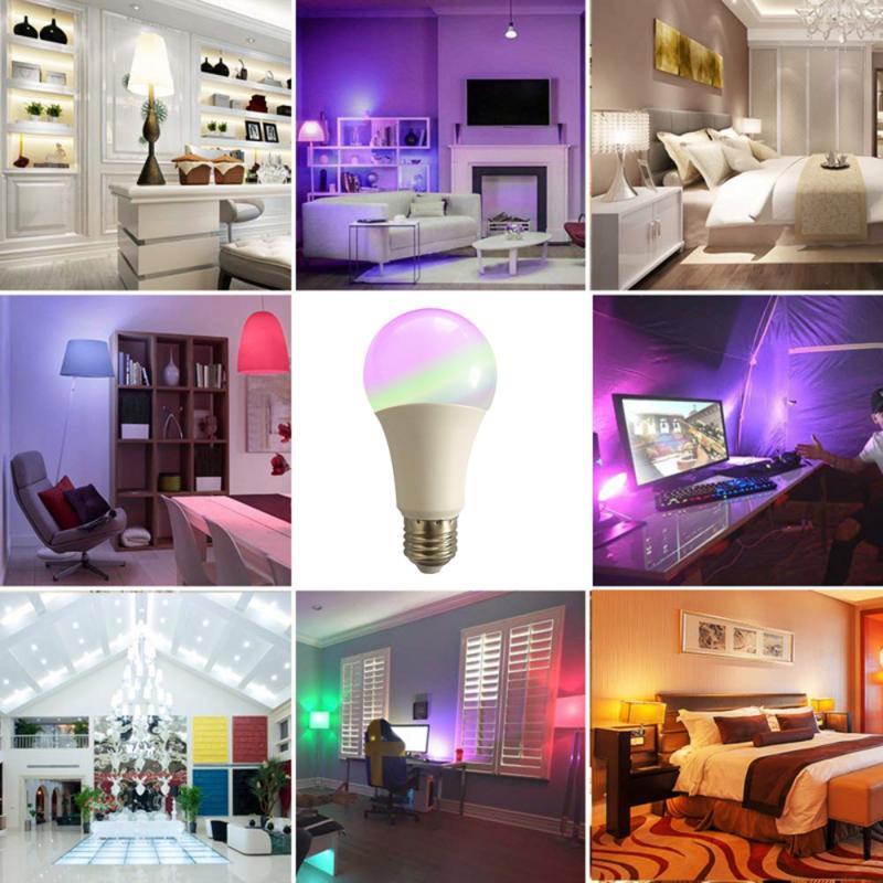 Lâmpada led xiaomi leds wi-fi inteligente lâmpada led rgb escurecimento holofotes interior lustre controle app para amazon alexa & google casa