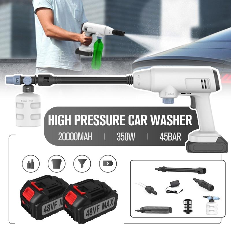 350 واط 20000mAh 45Bar مدفع رشاش مائي لاسلكي ارتفاع ضغط آلة غسل سيارات ارتفاع ضغط آلة غسيل السيارات لبطارية ماكيتا 18 فولت